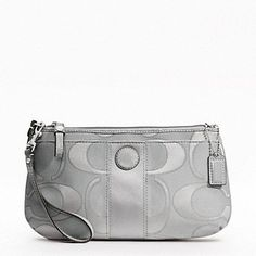 """COACH Signature Stripe Sateen Outline """"C"""" Large « Holiday Adds"""
