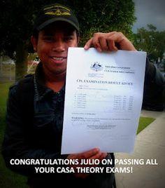 Julio Maia passes all his CASA theory exams