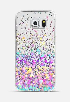 Candy Paint Rain Transparent Galaxy S6 Edge Case by Organic Saturation   Casetify