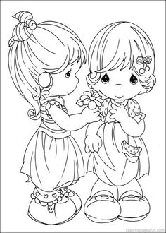 Precious Moments Coloring Pages ..