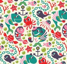 orange you lucky!: a whale of a pattern . .@Lesley Kemp I thought you might like this fabric .