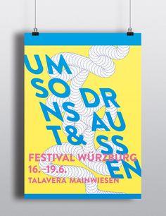 Umsonst & Draußen Festival 2016 – Plakatentwürfe | Slanted - Typo Weblog und Magazin