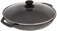 Lodge Seasoned Cast Iron 12 Inch Everyday Pan with Tempered Glass Lid -- Check out this great product. (This is an affiliate link) Seasoning Cast Iron, Cookware, Image Link, Glass, Check, Diy Kitchen Appliances, Kitchen Gadgets, Drinkware, Corning Glass