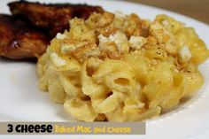 This 3 Cheese Baked Mac and Cheese includes Seriously sharp cheddar, Colby and Pepper Jack for a little flavor boost! Creamy with a crunchy topping!