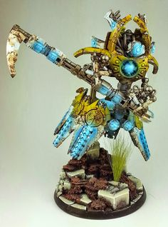 TJ here to introduce you to an artist known as Rumple Master and just one of his fantastic conversion armies, his Yellow, Rusty Necrons. Necron Army, Necron Warriors, Warhammer 40k Necrons, Warhammer Paint, Mini Paintings, Cool Paintings, Steampunk Robots, Future Games, Game Workshop