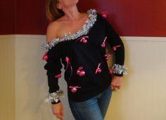 Cute Ugly Christmas Sweater Sweatshirt Black by TaborsTreasures