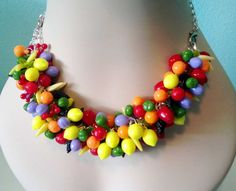 Tutti fruitti convertible charm bracelet/necklace made by Renee Webb Allen http://smallstuffdesign.com/blog/2013/3/24/an-obsession-with-fruit