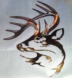 """Custom deer head (19"""" x 24"""")- Can either be powder coated black ($19.43) or acid washed ($24.78).   Shipping and Handling is not included in the price.  Call Madison Manufacturing for more information 574-633-4433"""