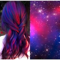 Purple hair color, crazy hair colour, hair color tips, fun hair Purple Hair, Ombre Hair, Red Purple, Purple Rose, Gold Hair, Blonde Hair, Rose Gold, Galaxy Hair Color, Coloured Hair