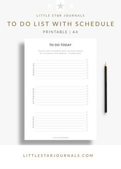 The perfect free printable to do list with schedule to break up your day into three parts and make it easier to prioritise your daily tasks. To Do Lists Printable, Schedule Printable, Day Schedule, Weekly Planner Printable, Free Printables, Printable Calendars, Free To Do List, Daily List, Happy Mom