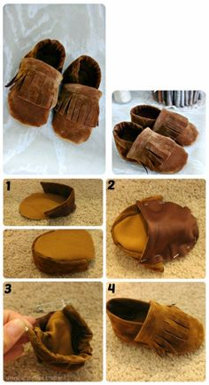 Leather Elks Tan Moccasin Craft Kit Men Boy/'s Size 7 Women 8 Project Craft New