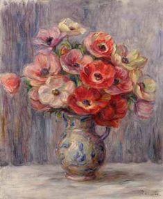 Anemones - Pierre Auguste Renoir - ca. 1883-1890 - Oil on canvas