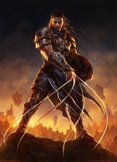 Gideon Picture  (2d, fantasy, magic the gathering, warrior)