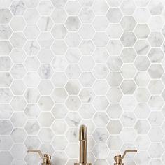 -Ivy Hill Tile Hexagon White Carrera 12 in. x 12 in. x 8 mm Floor and Wall Tile Ivy Hill Tile Hexagon White Carrera 12 in. x 12 in. x 8 mm Floor and Wall – The Home Depot See it Honeycomb Tile, Hexagon Mosaic Tile, Marble Mosaic, Hexagon Backsplash, Hexagon Quilt, Shower Floor Tile, Bathroom Floor Tiles, Kitchen Backsplash, Marble Tile Bathroom