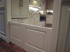 When building a house add 1/2 pocket doors to act as barriers instead of buying baby gates.