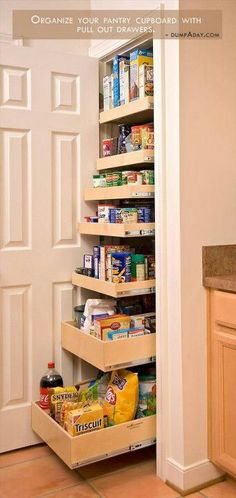 Vintage French Soul ~  turn a closet into an organized pantry!