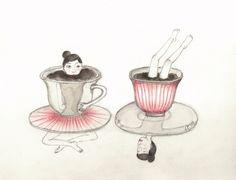 STRAWBERRYSKIRT TEA-THE INTRUDER-by valeria montemagni