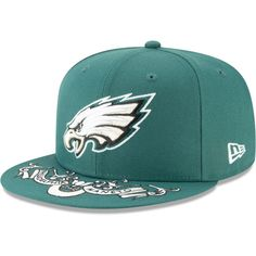 46485594a Philadelphia Eagles New Era 2019 NFL Draft On-Stage Official 9FIFTY  Adjustable Snapback Hat – Green, Your Price: $34.99