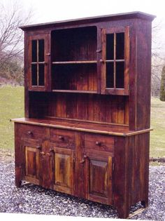 next up on the father-daughter furniture-building agenda... a beautiful kitchen hutch made from reclaimed barnwood