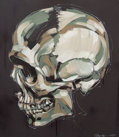 Painting of skull
