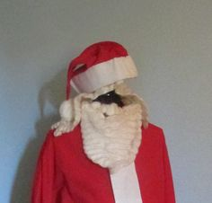 Vintage SANTA Claus Costume Suit Beard Hat Wig Red Flannel XXL by oldfaithfulinc on Etsy https://www.etsy.com/listing/211597246/vintage-santa-claus-costume-suit-beard