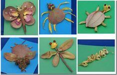Animals de la tardor amb fulles seques