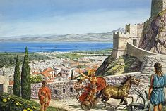 Roger Payne - Ancient Corinth. Tags: corinths, towns, castles,