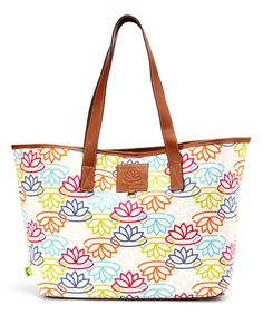 Love this LB Signature Multi Cotton Canvas Tote by Lily Bloom on #zulily! #zulilyfinds