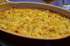 Easiest gluten-free mac & cheese ever! I used half cheddar and half truffle cheese, with King Arthur's GF all-purpose flour, and a crushed potato chip topping. Yum.