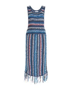 A bohemian knit piece, this **Derek Lam 10 Crosby** dress features contrasting multicolored stripes and a fringed hem. Dress Body Type, Nice Dresses, Summer Dresses, Beautiful Dresses, Fashion Week 2015, Derek Lam, Dress For You, Striped Dress, Spring Summer Fashion