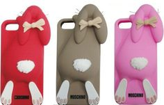 Funny & Lovely Moschino Rabbit 3D Silicone Back Cover Case Skin Cover for iPhone 4/4s/5/5S/5C - iPhone 5S Cases - iPhone 5/5S/5C