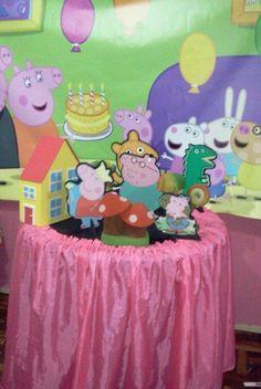 Decoração da Peppa Pig na Decorações da My Contato (51) 84743549 com Mchelle
