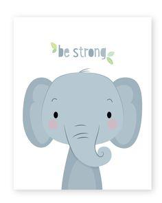 Nursery Prints, Nursery Wall Art, Nursery Decor, Room Decor, Jungle Theme Nursery, Animal Nursery, Elephant Nursery, Elephant Print, Elephant Baby