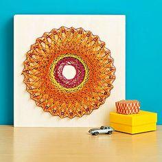 How to make spirograph string art!