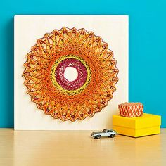 How to make spirograph string art!