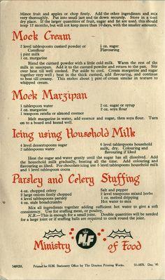 Christmas wartime recipe