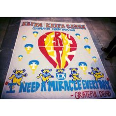 USC kappa banner for sigma chi derby days!!! Incorporates both CMNH and grateful dead