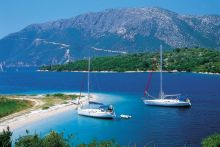 Charter a sailboat in Greece and sail from island to island.