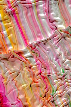 - Swirling Photographs of Mixed Paint by Mark Lovejoy (via Bloglovin.com ) - Really like how the colours have begun to mix and how there are ripples created. Creating feature with the paints movement. Maybe created with the paint drying and layering more paint on top. Could look at dripping a range of colours or using a colour palette and dripping it, then taking photos as if moves, could further document by taking a video.