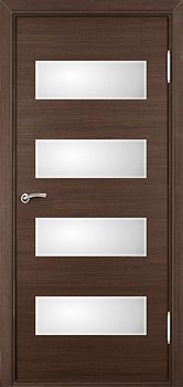 Contemporary door with frosted windows