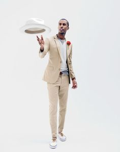JUL Style Guide: J.Crew men's Ludlow suit jacket with double vent in Italian chino, Ludlow suit pant in Italian chino, Paulmann™ panama hat with striped band and unisex Vans® for J. Men's Fashion, Latest Mens Fashion, Estilo Resort, Man Dressing Style, Italian Leather Shoes, J Crew Men, Mens Style Guide, Gentleman Style, Mens Suits