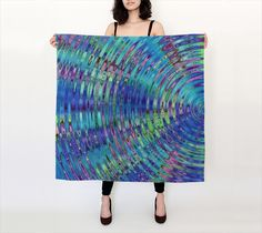 The Ripple Effect IV, Underwater - Silk Scarf, Large Square, 36x36