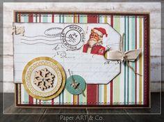 Weihnachtskarte von Mary-Jane für www. Mary Janes, Homemade Christmas Cards, December Daily, Mistletoe, Advent Calendar, Paper Art, Card Making, Winter, Valentines