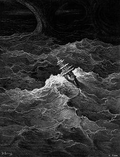 Gustave Doré Stormy sea by Gustave Doré