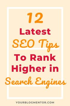 SEO trends keep changing with time and so should your SEO strategies. Here are 12 modern SEO tips to explode your search engine traffic. Seo Strategy, Digital Marketing Strategy, Seo Marketing, Internet Marketing, Marketing Strategies, Affiliate Marketing, Online Marketing, Seo Tutorial, What Is Seo