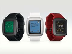 PEBBLE TIME - Awesome Smartwatch.  Color e-paper smartwatch with up to 7 days of battery and a new timeline interface that highlights what's important in your day.  Kickstarter.