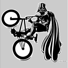 Bmx Darth, a t-shirt by Rich Wilkie Design at UmamiTees Cycling Quotes, Cycling Art, Bicycle Quotes, Cycling Jerseys, Cuadros Star Wars, Day Of The Shirt, Star Wars Design, Bmx Racing, Bmx Freestyle