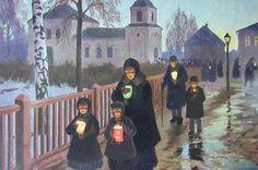 Вечер перед Пасхой. Михаил Маркианович Гермашев (Бубелло) (1867-1930). 1904 г.