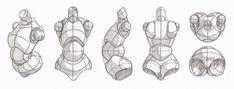 Copy's and Studies: Nsio's mannequin torso lineup by WonderingMind23.deviantart.com on @DeviantArt
