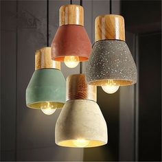 Wooden Modern Pendant Lights Vintage American Country Cement Shade Lighting Fixtures Bar Hotel Antique Mini Pendant Ceiling Lamp dinning room ideas * AliExpress Affiliate's Pin.  Click the VISIT button to view the details on AliExpress website